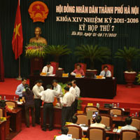 Xem kết quả tín nhiệm lãnh đạo Hà Nội