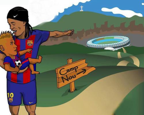 Hài bóng đá: Ronaldinho ly dị vợ - 1