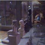 Kì lạ bức tượng Ai Cập tự xoay