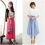 Thời trang - Chân váy vintage ngọt ngào khúc giao mùa