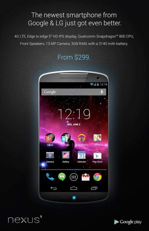 Nexus 5 ra mắt trong tháng 7 - 1