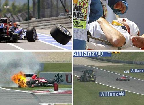 F1 rúng động sau vụ tai nạn ở German GP - 1