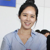 Han Ga In mặt mộc rạng rỡ đến VN