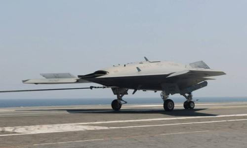 UAV Mỹ hạ cánh thành công xuống tàu sân bay - 5