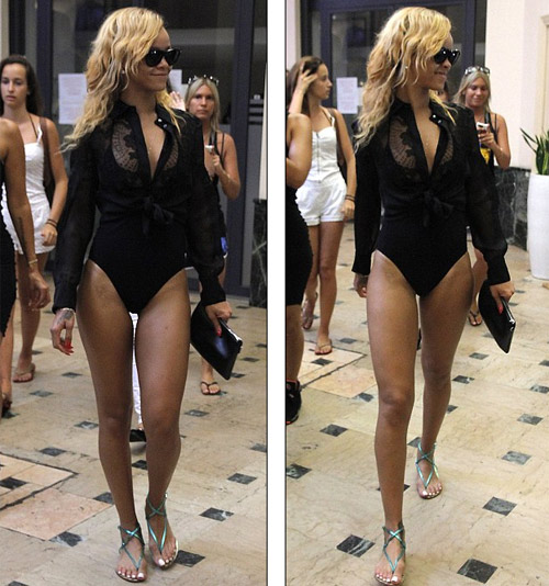 Rihanna liều lĩnh mặc bikini đi mua sắm! - 2