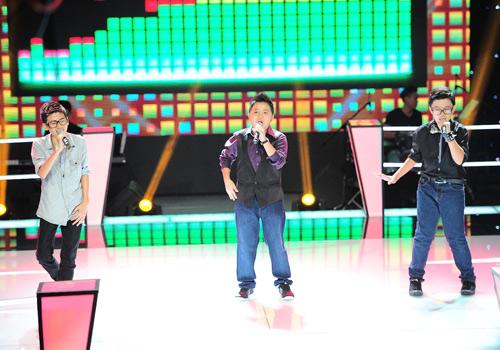 Hot boy nhí bùng nổ The Voice Kids, Ca nhạc - MTV, the voice kids, the voice kids 2013, giong hat Viet nhi, doi dau, Ho Hoai Anh, Thanh Bui, Luu Huong Giang, Hien Thuc, thi sinh, HLV, ngoi sao, tin tuc