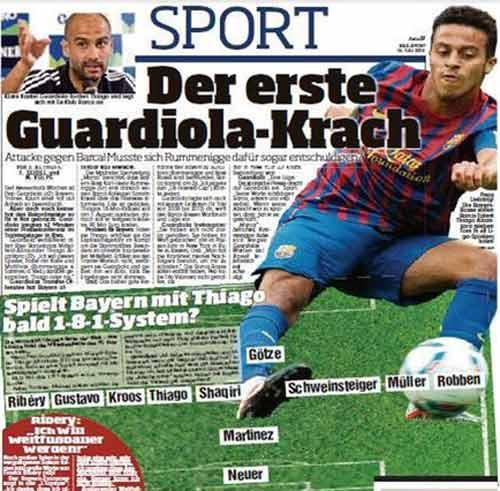 Với Thiago, Bayern có thể chơi 1-8-1 - 2