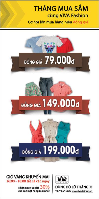 Giờ vàng mua sắm ưu đãi lớn từ VIVA Fashion - 1