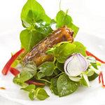 Ẩm thực - Rau càng cua trộn cá mòi
