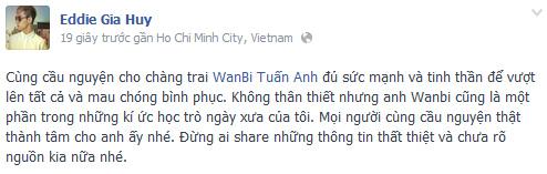 Sốc vì tin Wanbi Tuấn Anh đột tử, Ca nhạc - MTV,