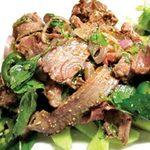 Ẩm thực - Gỏi bắp bò Thái cay