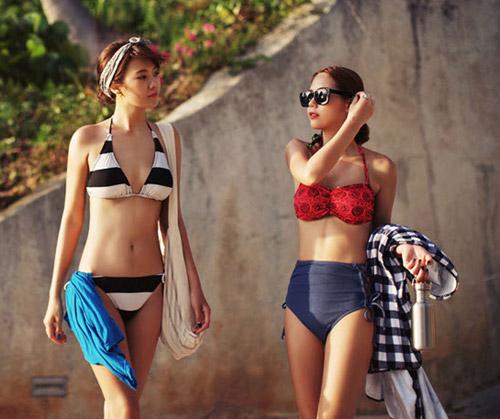 Bikini cạp cao khéo che bụng mỡ - 1