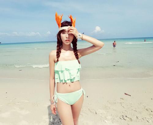 Bikini cạp cao khéo che bụng mỡ - 15