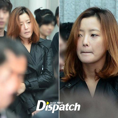 """Kim Hee Sun phờ phạc trong tang lễ """"ông trùm"""" - 1"""