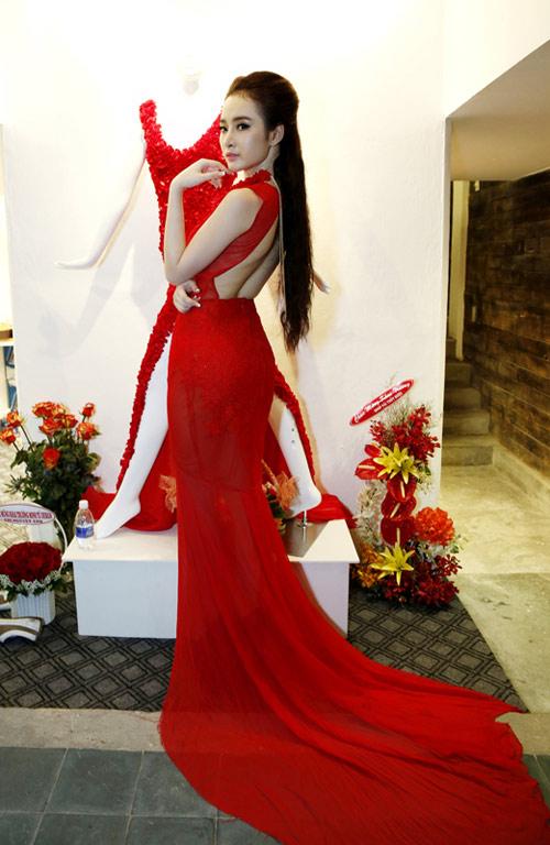Phương Trinh mong manh với váy mỏng - 2