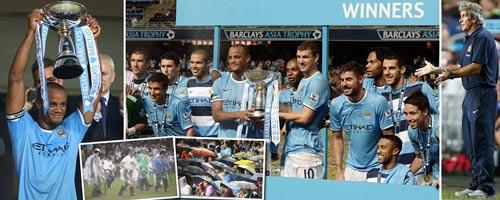 Man City nâng cao danh hiệu đầu tiên - 2