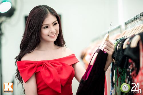 Hoa hậu Ngọc Hân xinh đẹp bất ngờ - 5