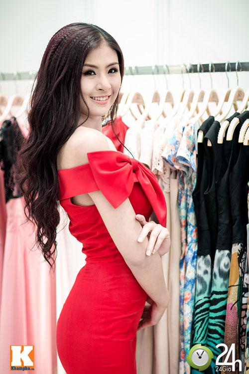 Hoa hậu Ngọc Hân xinh đẹp bất ngờ - 4