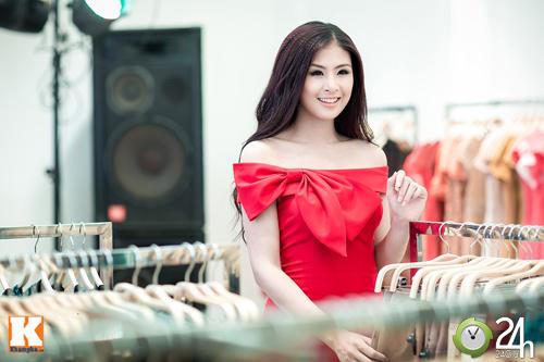 Hoa hậu Ngọc Hân xinh đẹp bất ngờ - 6