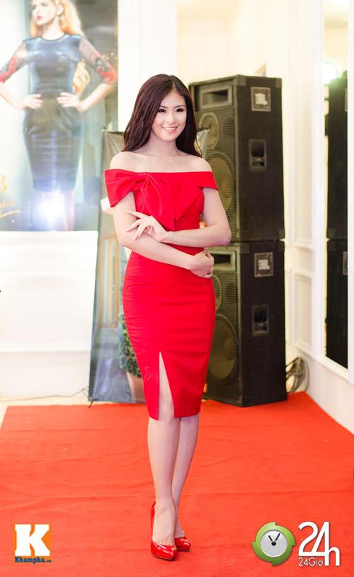 Hoa hậu Ngọc Hân xinh đẹp bất ngờ - 1