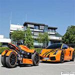 Ô tô - Xe máy - Lamborghini Gallardo đọ dáng bên mô tô khủng