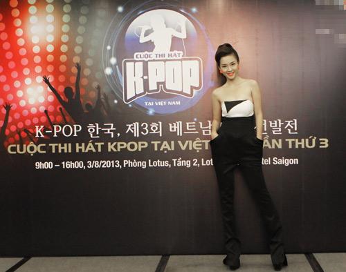 Đinh Hương gợi cảm chấm thi nhạc Hàn, Ca nhạc - MTV, Dinh Huong, goi cam, sexy, cham thi, giam khao, ghe nong, nhac Han, Han Quoc, KPOP, ca sy, tin tuc