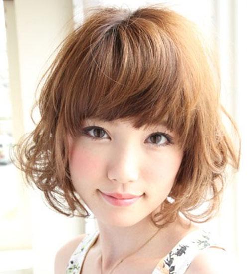 Kiểu tóc ngắn xinh xắn cho nàng mặt bầu - 5