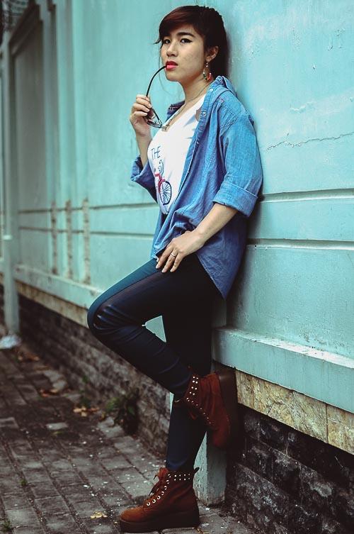 """Bạn trẻ Sài thành """"nghiện"""" mặc đồ jeans - 16"""