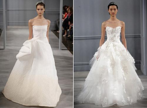 Váy cưới thơ mộng cho mùa xuân 2014 - 15