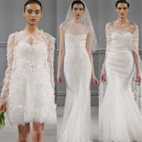 Váy cưới thơ mộng cho mùa xuân 2014