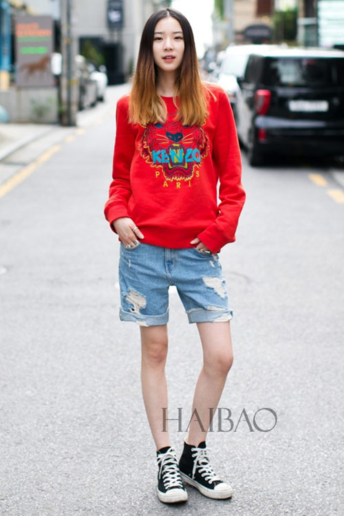 Chân dài quyến rũ trên đường phố Hàn - 10