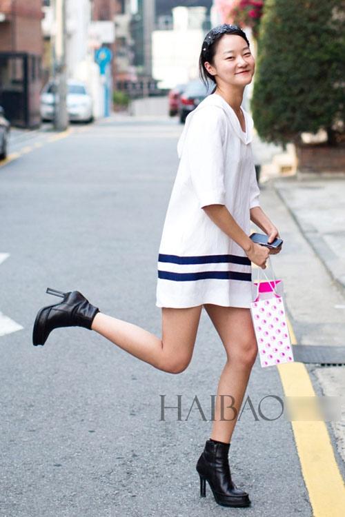 Chân dài quyến rũ trên đường phố Hàn - 17