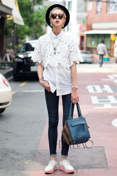 Chân dài quyến rũ trên đường phố Hàn - 4