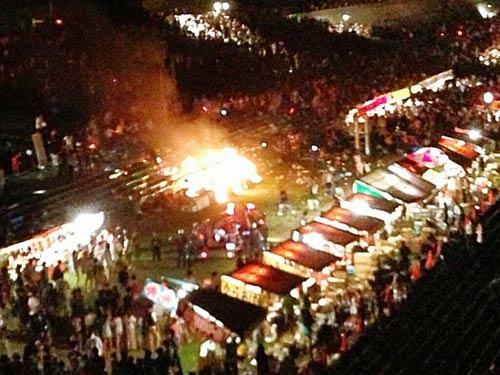 Nhật: Nổ ở lễ hội pháo hoa, 59 người nhập viện - 1