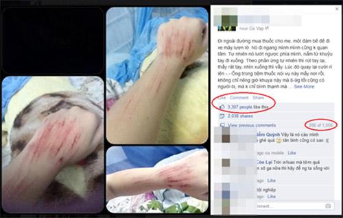 Xôn xao cô gái bị tấn công trên đường - 1