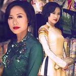 Thời trang - Hồng Ánh quý phái với áo dài xưa