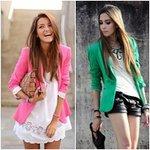 Thời trang - Mùa thu thanh nhã với blazer màu sắc
