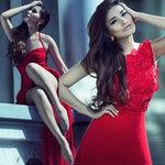 Thời trang - Kim Minh gợi cảm với váy xẻ cao