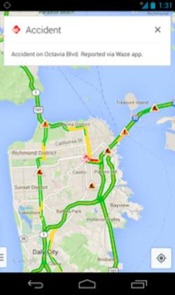 Google Maps thông báo tình trạng giao thông từ Waze - 1