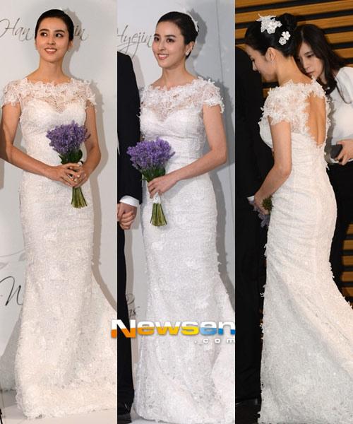 Sao Hàn mặc váy cưới xấu nhất - 6