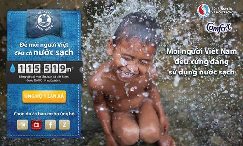 Hơn 115.000 người góp sức 'mang' nước sạch về vùng sâu.