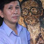 Phi thường - kỳ quặc - Họa sỹ Việt tạo tranh bằng lông gà