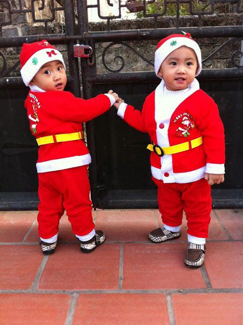 Minh Vương khoe 2 quý tử song sinh - 3