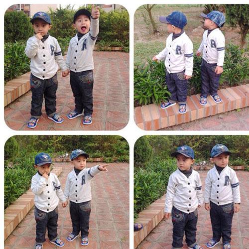 Minh Vương khoe 2 quý tử song sinh - 6