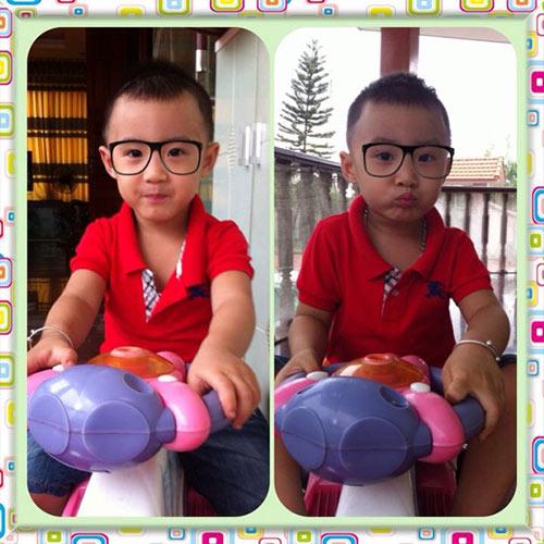 Minh Vương khoe 2 quý tử song sinh - 12