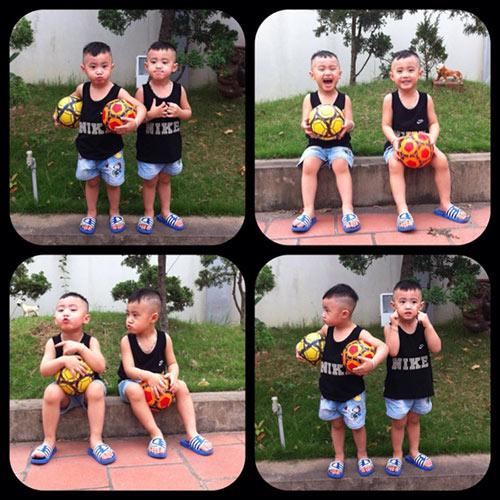 Minh Vương khoe 2 quý tử song sinh - 9