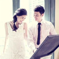 Lộ ảnh cưới tuyệt đẹp của vợ chồng Huy Khánh - Anh Thư