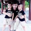 Minh Vương khoe 2 quý tử song sinh