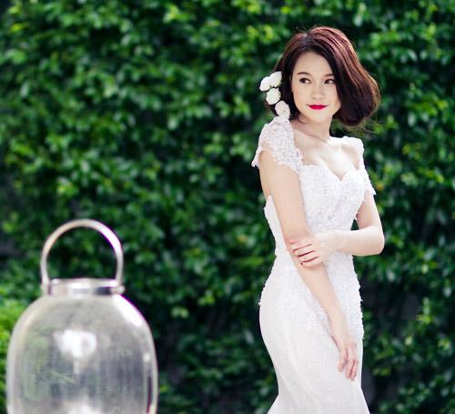 Hot girl Kelly, Sam hóa cô dâu dễ thương - 6