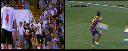Video: Barca thoát bị thổi penalty - 1